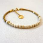Joobee : bracelet perles en bois Jagua blanc de Maison Clairon