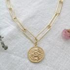 Joobee : collier médaille  maille trombone Ajna de Mai