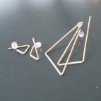 Joobee : Boucles d'oreilles pendantes grands triangles de Sissi 100Fils