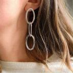 Joobee : Boucles d'oreilles créoles triples Evasion de Helles portées