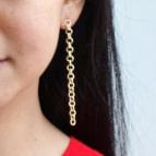Joobee : boucles d'oreilles Roma de Elis Paris portées
