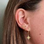 Joobee : boucles d'oreilles puces Epée de Léone portées