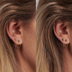 Joobee : Boucles d'oreilles mini créoles cristal Swarovski  Oscar de April Please portées