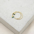 Joobee : Boucles d'oreilles mini créoles cristal Swarovski  Oscar de April Please