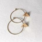 Joobee : boucles d'oreilles mini créoles triangle Laura de By Fleur de Jade