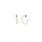 Joobee : Boucles d'oreilles mini créoles cristal Swarovski  Oscar de April Please vert