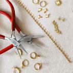 Joobee : bracelet maille épis Vanille de Constance L atelier