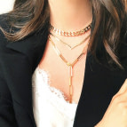 Joobee : collier maille rectangle Eternity de Helles porté