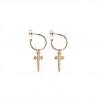Joobee : boucles d'oreilles mini créoles épée de Léone