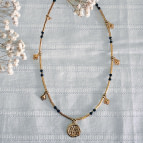 Joobee : collier médaille nacre Fès médaille noir de Petite Madame