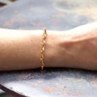 Joobee : Bracelet gros maillons de créateur Amanda de 4 Crosses porté