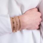 Joobee : bracelet maille épis Vanille de Constance L porté