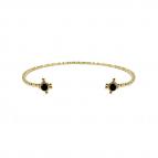 Joobee : bracelet jonc cabochon en verre Gabie noir de Constance L
