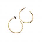 Joobee : boucles d'oreilles créoles en or martelé de Léone
