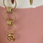 Bracelet gros anneaux Marine de Un de Ces Quatre