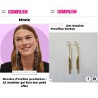 Joobee : Boucles d'oreilles pendantes perles bois Jarana de Maison Clairon vu dans la presse