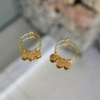 Joobee : Boucles d'oreilles mini créoles pampilles Eloïse de Petite Madame