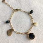 Joobee : bracelet breloques pyrite Ilo de Maison Clairon