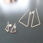 Joobee : Boucles d'oreilles puces petits triangles de Sissi 100Fils