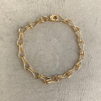 Joobee : Bracelet gros maillons de créateur Amanda de 4 Crosses