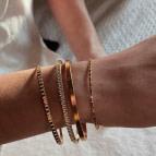 Joobee : bracelet jonc bracelet jonc fin Goutte de Léone porté