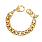 Joobee : bracelet grosse maille gourmette dorée Joan de Helles