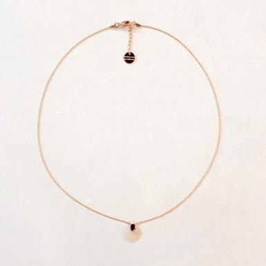 Joobee : collier pendentif nacre Bubinga blanc de Maison Clairon