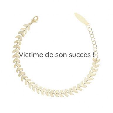 Joobee : bracelet maille épis Vanille de Constance L