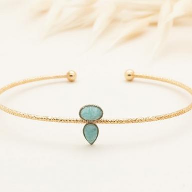Joobee : bracelet jonc amazonite Lili de Aurélie Joliff
