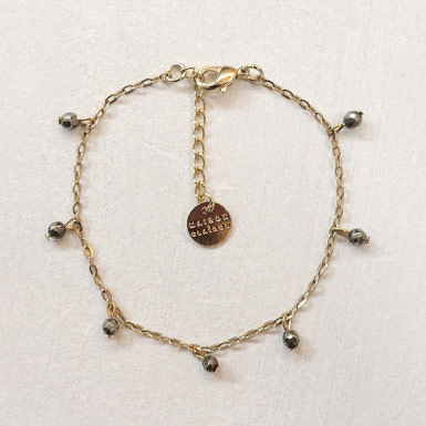 Joobee : bracelet perles de pyrite Idra de Maison Clairon