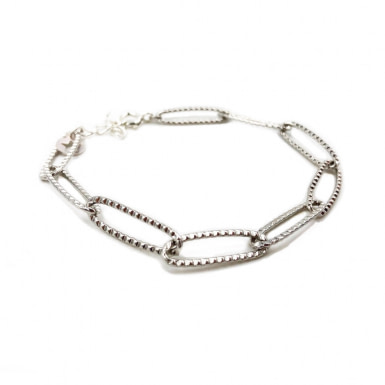 Joobee :  Bracelet gros maillons argentés de Stella Mai