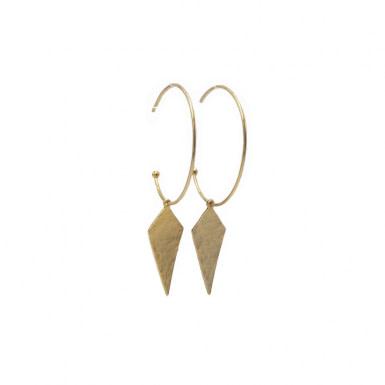 Joobee : Boucles d'oreilles créoles pendentif losange Léo de Stella Mai