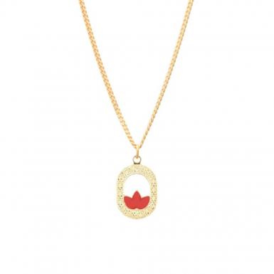 Joobee : collier pendentif émail corail Madison de Aurélie Joliff