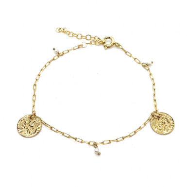 Joobee : bracelet médaille et perles Kate de Gisel b.