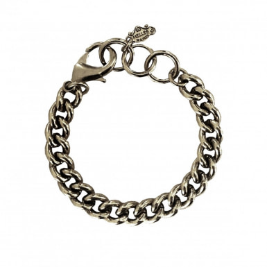 Joobee : Bracelet grosse maille gourmette argentée de Helles