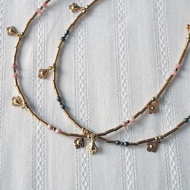 Joobee : collier perles labradorite Fès de Petite Madame