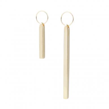 Joobee : Boucles d'oreilles pendantes asymétriques Ingots de Amoodz