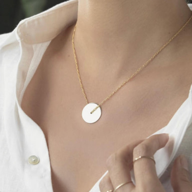 Joobee : collier disque or Cerchio de Amoodz