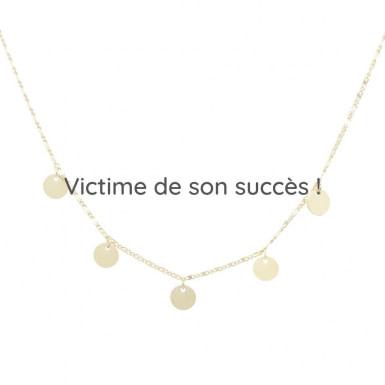 Joobee : collier fin de créateur Malo pampilles de Constance L