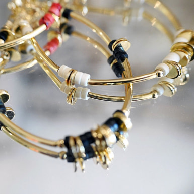 Joobee : bracelet howlite disque blanc de Petite Madame
