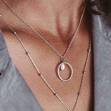 Joobee : collier perle de culture Comète de Un de Ces Quatre porté