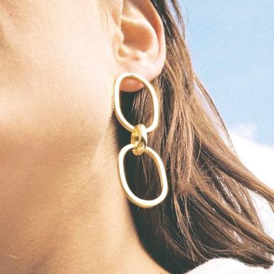 Joobee : boucles d'oreilles Maria de Elis Paris portées