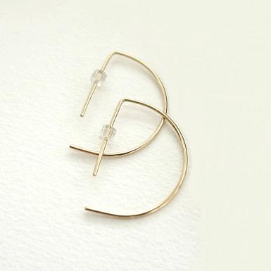 Joobee : Boucles d'oreilles demi créoles Iris de Sissi 100Fils