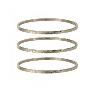 Joobee : Bracelet 3 joncs métal argenté de Helles par 3