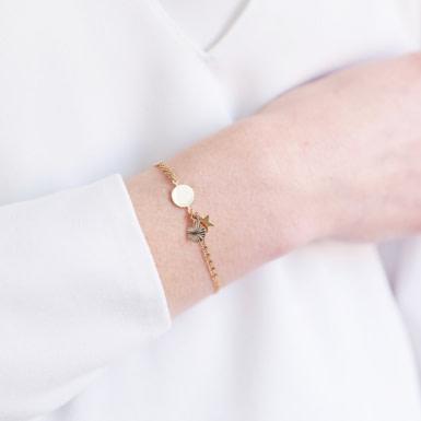 Joobee : bracelet breloque étoile Malo de Constance L porté