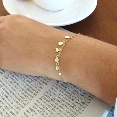 Joobee : bracelet petites pampilles Thea de Sissi 100Fils porté
