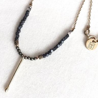 Joobee : collier perles pyrite Judi de By Fleur de Jade