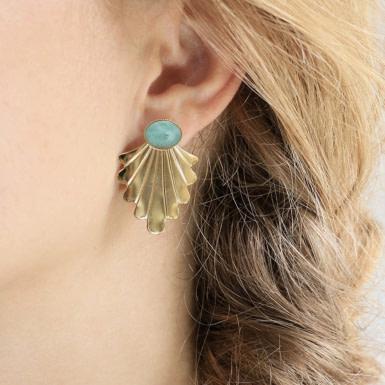 Joobee : boucles d'oreilles Telline de Aurélie Joliff portées