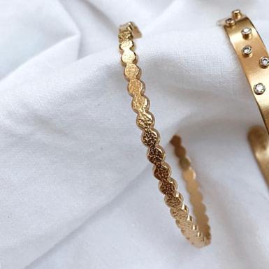 Joobee : bracelet jonc ouvert  Pastilles de Léone
