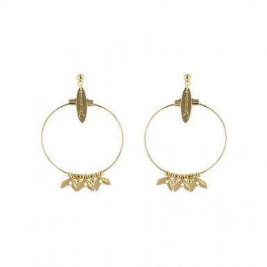 Joobee : Boucles d'oreilles créoles dorées Vanille de Constance L